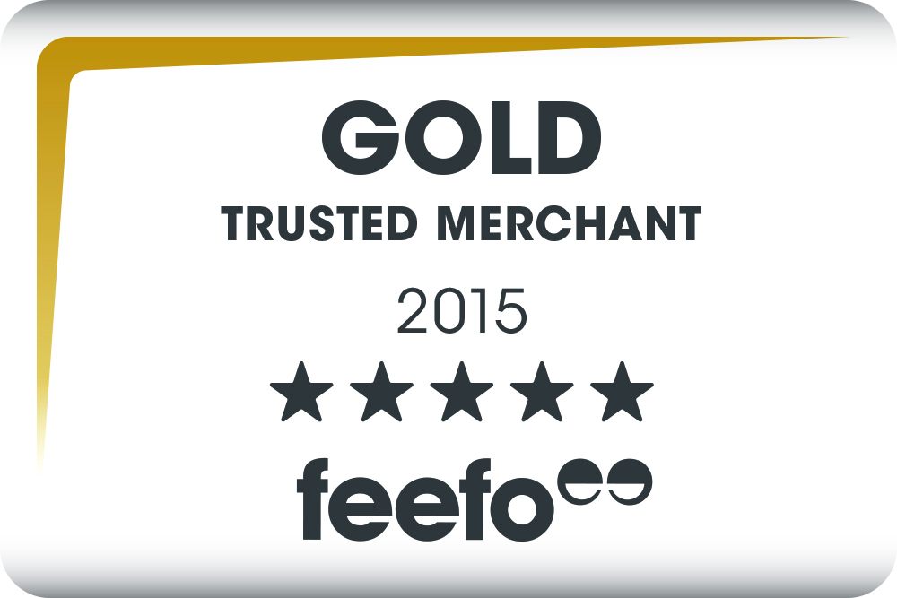 Feefo GOLD Trusted Merchant Award 2015
