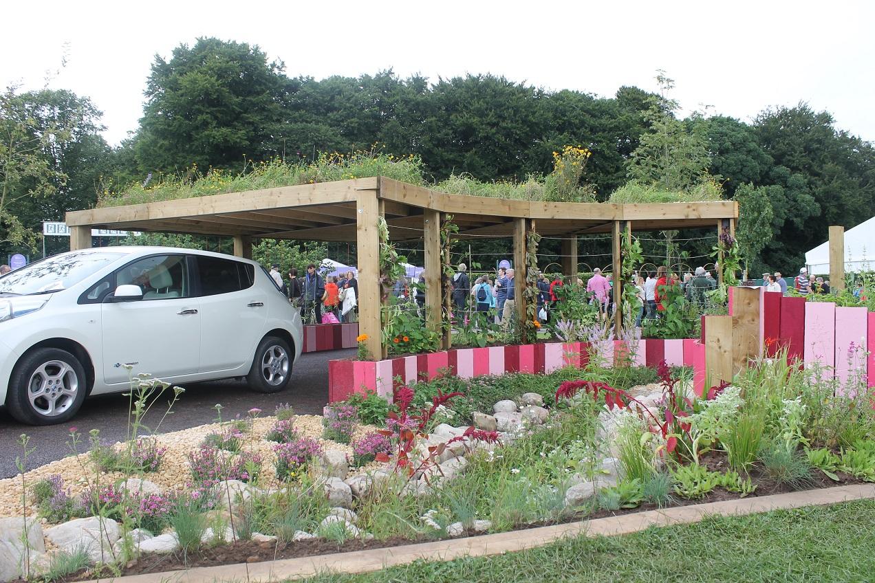 Spiralling into Control show garden