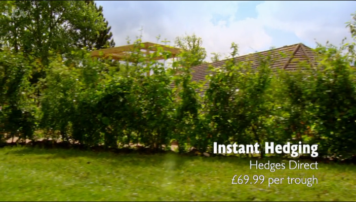 instant hedging on ove your garden