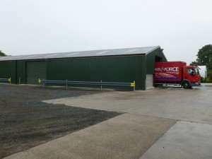 New despatch building at Hedges Direct