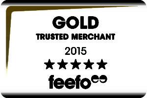 Feefo GOLD Trusted Merchant Award 2015